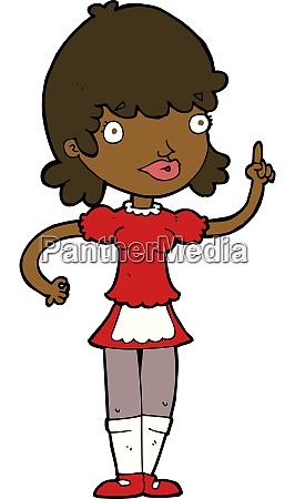 cartoon maid