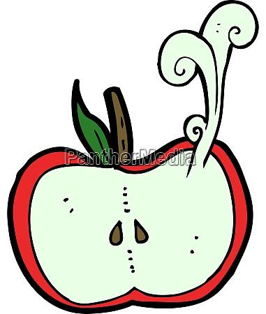 cartoon juicy apple half