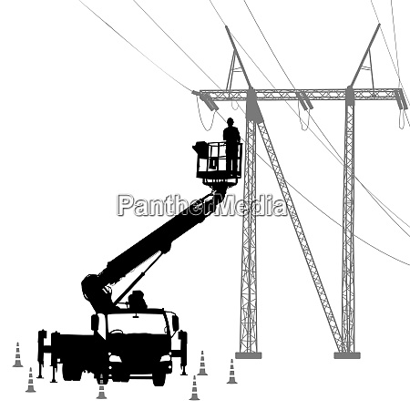electrician making repairs at a power
