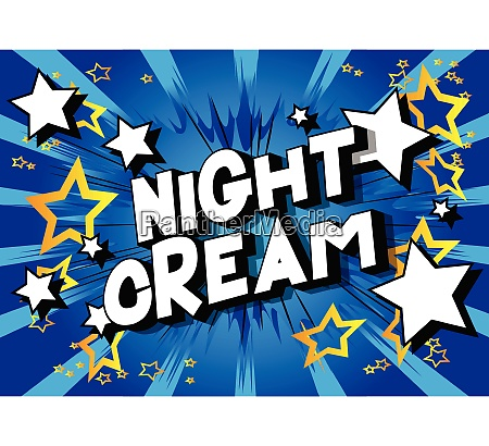night cream comic book style