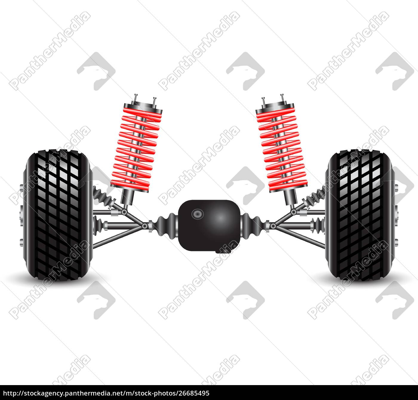 rear, suspension, of, the, car, springs - 26685495