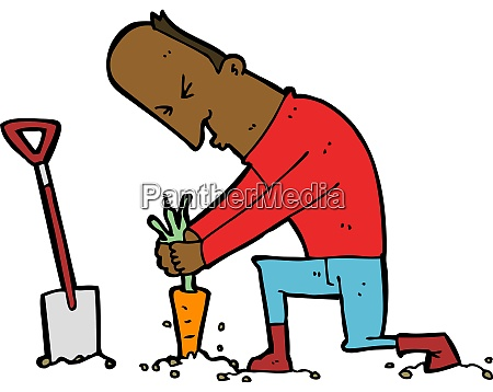 cartoon gardener