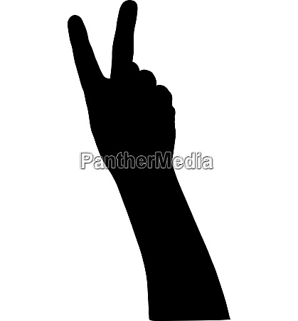 black silhouette of hands on white