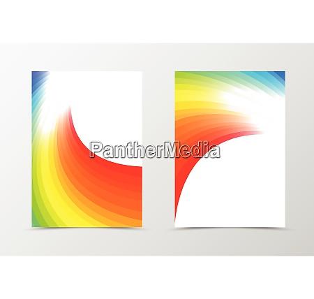 rainbow flyer template design rainbow flyer