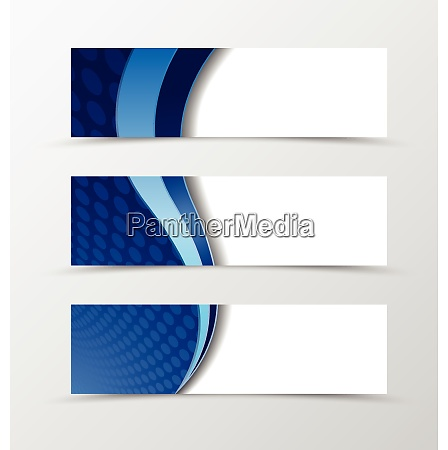 set of banner circle grid design