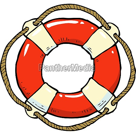 lifebuoy on a white background vector