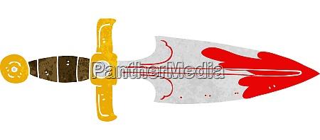 cartoon bloody dagger