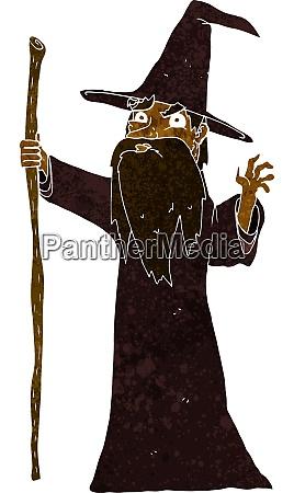 cartoon spooky wizard