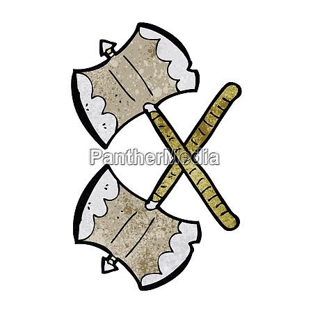 crossed axes cartoon
