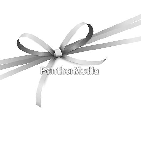 silver colored ribbon bow