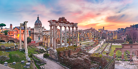 ancient ruins of roman forum at