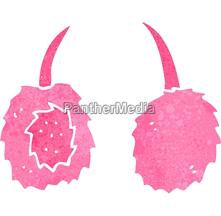 retro cartoon pink ear muffs