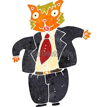 retro cartoon fat cat banker