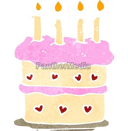 retro cartoon birthday cake