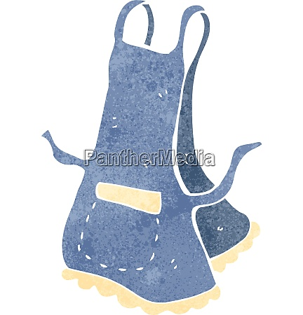retro cartoon kitchen apron