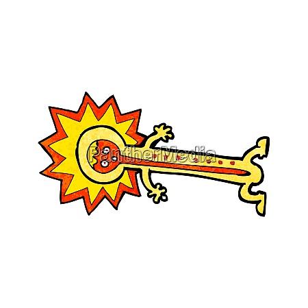 cartoon hot thermometer
