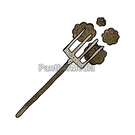 cartoon pitch fork
