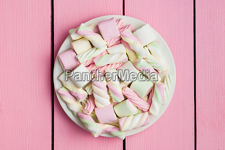 sweet colorful marshmallows