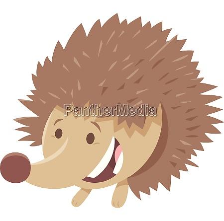 cute hedgehog cartoon animal character
