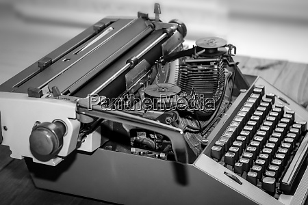 details of an old mechanical typewriter