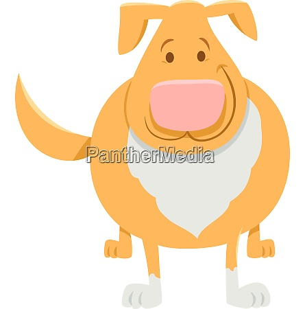beige dog or puppy cartoon character