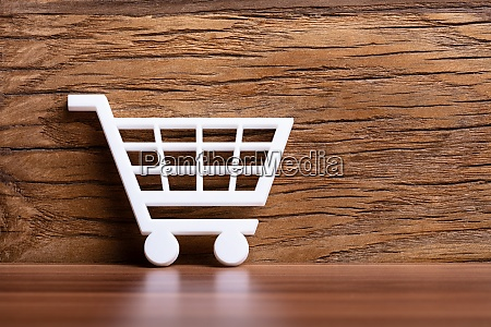 white shopping cart