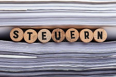 german word for tax steuern word
