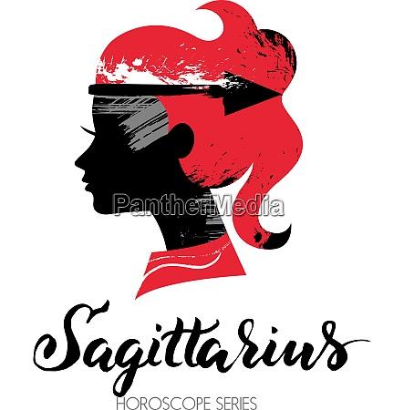 sagittarius zodiac sign beautiful girl silhouette