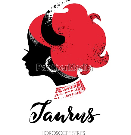 taurus zodiac sign beautiful girl silhouette