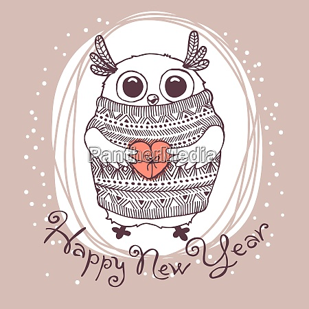 hand drawn vector illustration with cute