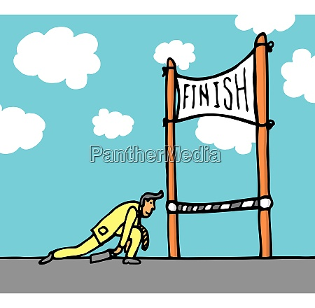 huge effort getting to the finish
