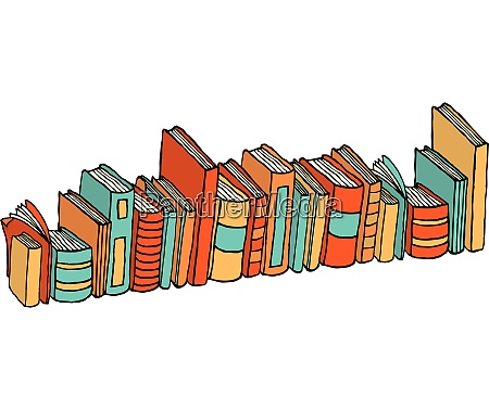 different, standing, books, /, library, stack - 26761984