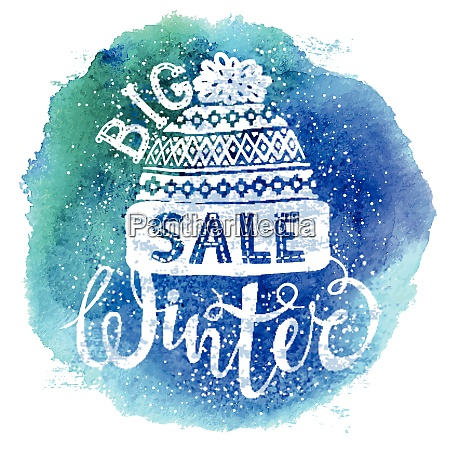 winter special banner or label with