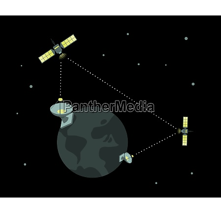 telecom satellite working