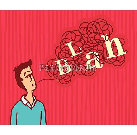 cartoon illustration of man saying a