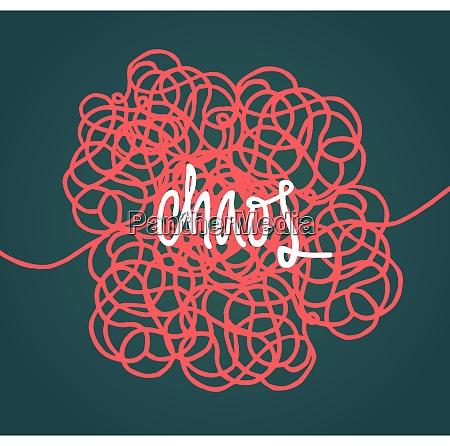 handwritten illustration of chaos over tangled