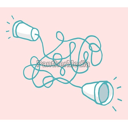 cartoon illustration of two cups joined