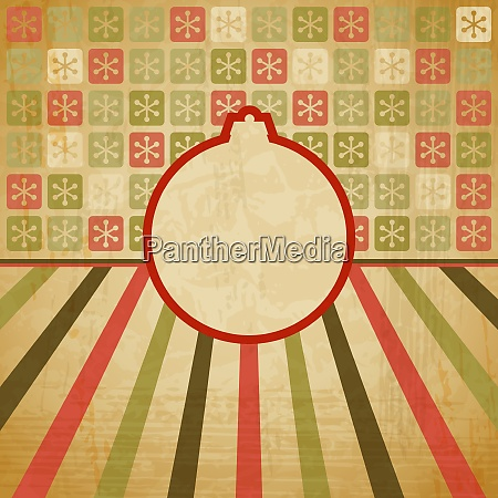 vector vintage christmas background in retro