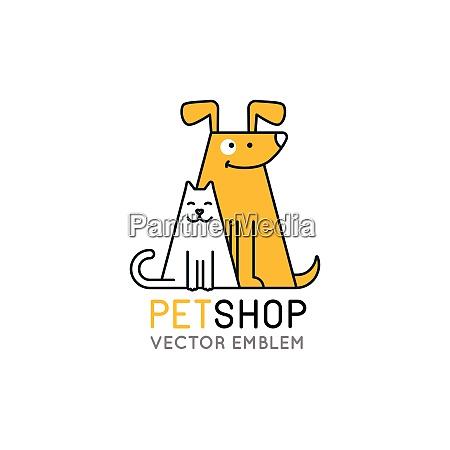 vector logo design template for pet