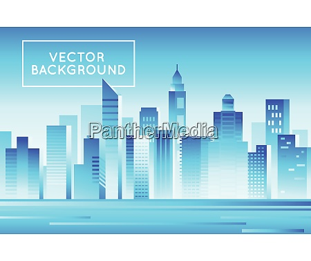 vector abstract city landscape in bright