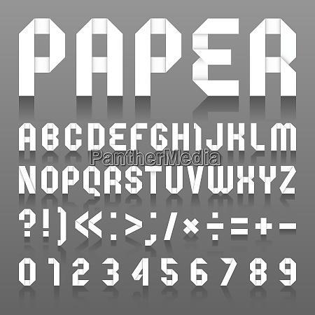 alphabet folded of paper roman alphabet