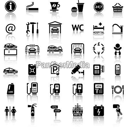 car services and repair 36 icons