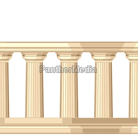 seamless pattern with doric antique greek
