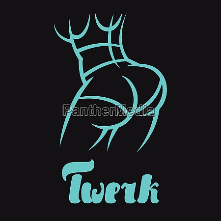 twerk and booty dance illustration for