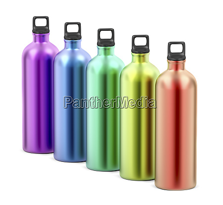 colorful metal water bottles