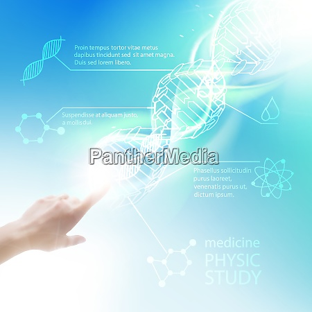 biochemistry infographics design for science vector