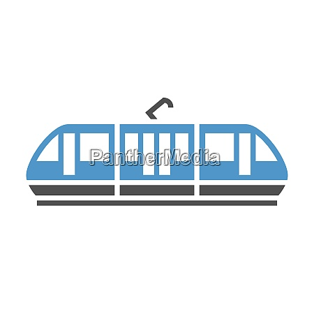 urban transport icon tram gray