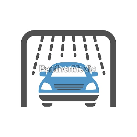 car wash gray blue icon