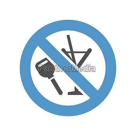 forbidden sign gray blue icon