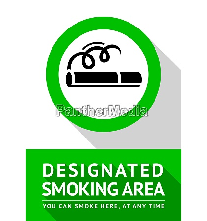 smoking place new poster vector illustration